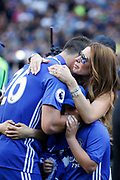 Chelsea Defender John Terry (26) and his wife Toni during the Premier League match between Chelsea and Sunderland at Stamford Bridge, London, England on 21 May 2017. Photo by Andy Walter.