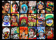 Fan portraits at the 2010 world cup. South Africa. .Picture by Zute Lightfoot