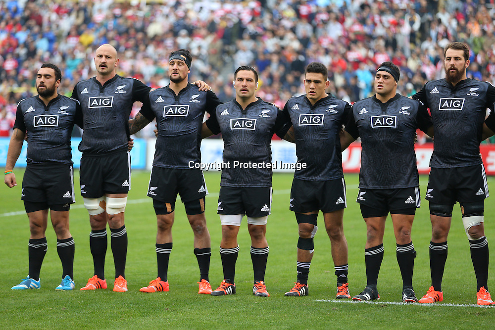 Maori All Blacks team group (Maori All Blacks),<br /> NOVEMBER 8, 2014 - Rugby : <br /> International rugby friendly match <br /> between Japan XV 18-20 Maori All Blacks <br /> at Chichibunomiya Rugby Stadium, Tokyo, Japan. <br /> (Photo by Shingo Ito/AFLO SPORT)