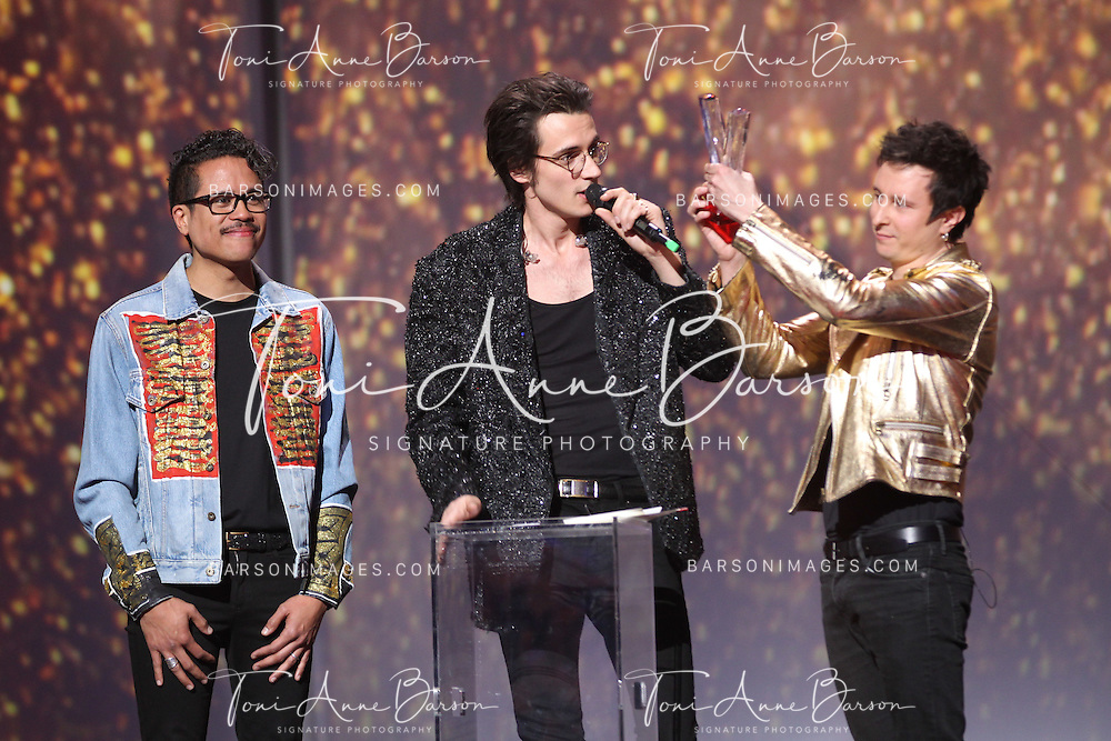 """PARIS, FRANCE - FEBRUARY 10:  Radio Elvis receives Award during the """"32nd Victoires de la Musique 2017"""" at Le Zenith on February 10, 2017 in Paris, France.  (Photo by Tony Barson/FilmMagic)"""
