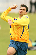 Justin Kemp of the Chennai Super Kings during the Superkings sends down a delivery training session held at St Georges Park in Port Elizabeth on the 17 September 2010..Photo by: Shaun Roy/SPORTZPICS/CLT20