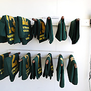 Saddle numbers lined up in the weighing room during a day at the Races at Ascot Park, Invercargill, Southland, New Zealand. 10th December 2011. Photo Tim Clayton