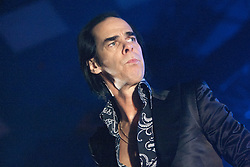 A tight shot off Nick Cave, of Nick Cave and the Bad Seeds, on stage tonight at The Barrowlands, Glasgow, Scotland.<br /> &copy;Michael Schofield.