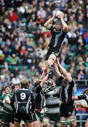 Twickenham, GREAT BRITAIN, Ospreys', Alun-wyn JONES, catches a clean line out ball, during the EDF Energy Cup Final rugby match,  Leicester Tiger vs Ospreys, at Twickenham Stadium, Surrey on Sat 12.04.2008 [Photo, Peter Spurrier/Intersport-images]