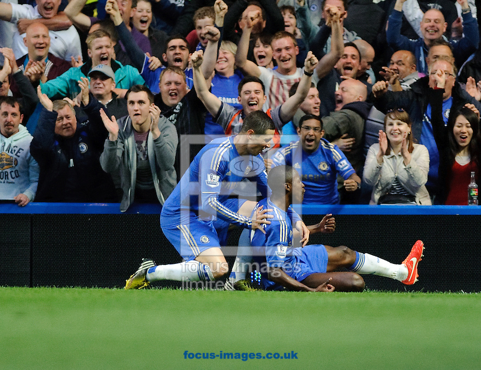 Picture by Gerald O'Rourke/Focus Images Ltd +44 7500 165179.08/05/2013.Ramires of Chelsea celebrates his goal  during the Barclays Premier League match at Stamford Bridge, London.