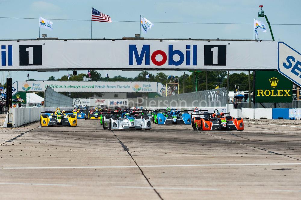 #7 JDC Motorsports Elan DP-02: Austin Versteeg #10 JDC Motorsports Elan DP-02: Clark Toppe  #16 Performance Tech Motorsports Elan DP-02: Patricio O'Ward