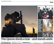 The Guardian - 13th November 2017 (image of Bandsmen and women, Coventry.