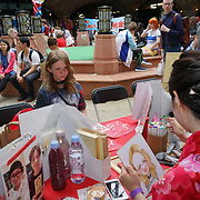 London, England, UK. 15th July 2017. Hundreds attend the Japanese culture - Hype Japan 2017 and dress up in expressions of Cosplay, Cartoon characters and much more food and sovereign stalls at Tobacco Dock.