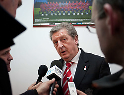 01.12.2010, Stadionul Steaua, Bucharest, ROM, UEFA Europa League, FC Steaua Bucuresti v Liverpool FC, press conference Liverpool, im Bild Liverpool's manager Roy Hodgson arrives at the Stadionul Steaua ahead of the UEFA Europa League Group K match against FC Steaua Bucuresti. . EXPA Pictures © 2010, PhotoCredit: EXPA/ Propaganda/ David Rawcliffe +++++ ATTENTION - OUT OF ENGLAND/UK +++++