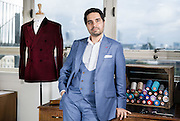 David Hathiramani Portrait owner of A Suit That Fits on August 14.  2015.<br /> <br /> Photos Ki Price