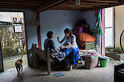 Dr Hay Mar Aung examines a patient at Damaparla Monastery in East Dagon township, Yangon.