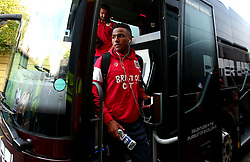 Niclas Eliasson of Bristol City arrives at Vicarage Road for his side's Carabao Cup Match against Watford - Mandatory by-line: Robbie Stephenson/JMP - 22/08/2017 - FOOTBALL - Vicarage Road - Watford, England - Watford v Bristol City - Carabao Cup