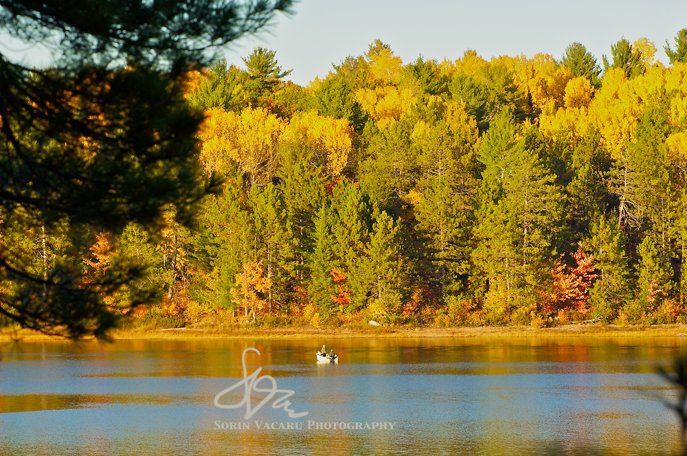 Fall Sunset on the French River