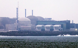 © Licensed to London News Pictures. 09/02/2017. Dielette, France.  Flamanville nuclear power station this afternoon, 9th February 2017, following a blast that has left several people being treated for smoke inhalation. The station's operator, EDF, have said that there is no nuclear risk following the incident. Photo credit: Rob Arnold/LNP