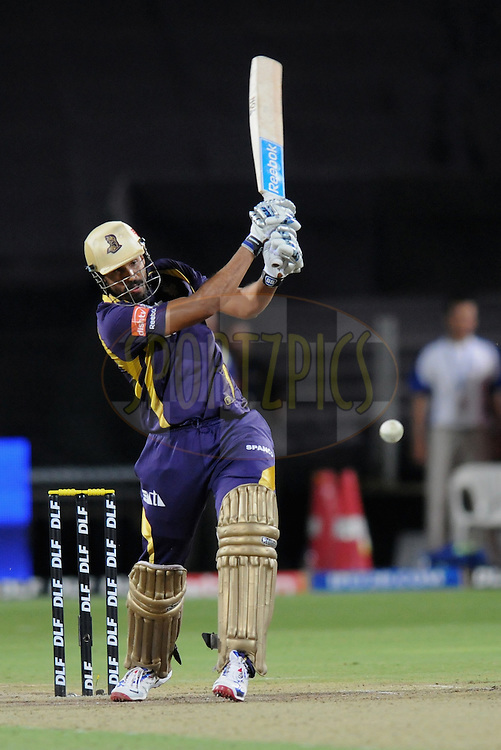 Yusuf Pathan of Kolkatta Knight Riders bats during the first Qualifying match of the Indian Premier League ( IPL) 2012  between The Delhi Daredevils and The Kolkata Knight Riders held at the Subrata Roy Sahara Stadium, Pune on the 22nd May 2012..Photo by Pal Pillai/IPL/SPORTZPICS.