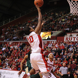Jan 31, 2009; Piscataway, NJ, USA; Rutgers guard Epiphanny Prince (10) puts up a basket during the first half of South Florida's 59-56 victory over Rutgers in NCAA women's college basketball at the Louis Brown Athletic Center