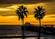 A Summer Sunset At Oceanside Pier