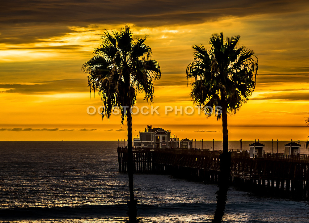 A Summer Sunset At Oceanside Pier