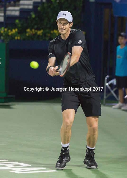 ANDY MURRAY (GBR)<br /> <br /> Tennis - Dubai Duty Free Tennis Championships - ATP -  Dubai Duty Free Tennis Stadium - Dubai -  - United Arab Emirates  - 3 March 2017. <br /> &copy; Juergen Hasenkopf
