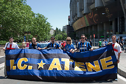 22.05.2010, Estadio Santiago Bernabeu, Madrid, ESP, UEFA Champions League Finale 2010, Bayern Muenchen vs Inter Mailand, Finale, im Bild Inter Milan fans prior to the  Champions League final contested. EXPA Pictures © 2010, PhotoCredit: EXPA/ Mitchell Gunn