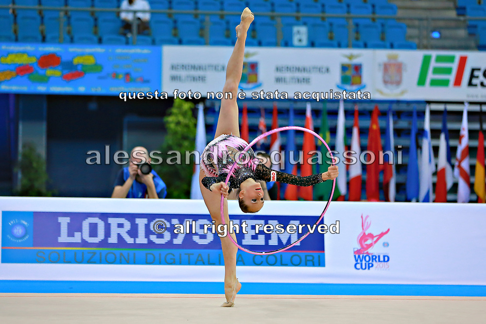 Veronica Bertolini during qualifying at hoop in Pesaro World Cup 10 April, 2015.<br />