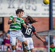 Celtic&rsquo;s Erik Sviatchenko heads clear from Dundee&rsquo;s Yordi Teijsse - Dundee v Celtic in the Ladbrokes Scottish Premiership at Dens Park, Dundee. Photo: David Young<br /> <br />  - &copy; David Young - www.davidyoungphoto.co.uk - email: davidyoungphoto@gmail.com