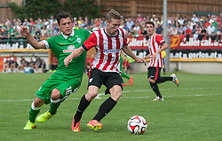 27.07.2014, Sportplatz, Fügen, AUT, FS Vorbereitung, Testspiel, SV Werder Bremen vs Atletico Bilbao, im Bild Zlatko Junuzovic (Werder Bremen) und Ibai (Atletico Bilbao) // during a friendly Match between SV Werder Bremen and Atletico Bilbao at the football stadium in Fügen, Austria on 2014/07/27. EXPA Pictures © 2014, PhotoCredit: EXPA/ Jakob Gruber