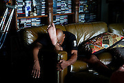 Monday, July 8, 2013 REGGIE WILLIAMS : Former Cincinnati Bengals player and Cincinnati City Councilman Reggie Williams at his home in Orlando. He takes opportunities all day to stretch helping in his mobility and pain management. The Enquirer/Jeff Swinger