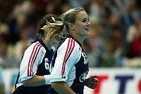 Håndball, 26. september 2002. Treningskamp, Norge - Jugoslavia 31-19. Birgitte Sættem, Norge.