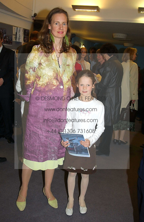 SERENA SOAMES wife of the Hon.Nicholas Soames and their daughter ISABELLA SOAMES at a performance by the London Childrens Ballet of 'The Little Princess' at The Peacock Theatre, Portugal Street, London WC2 on 19th May 2005.<br />