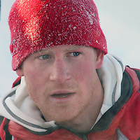 Prince harry on his way to the North Pole.Photograph David Cheskin.