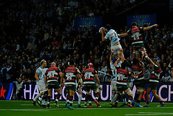 December 9, 2018 - Nanterre, Hauts de Seine, France - Racing 92 Flanker BAPTISTE CHOUZENOUX in action during the rugby Champions Cup Day 3 between Racing 92 and Leicester at U Arena Stadium in Nanterre - France..Racing 92 Won 36-26. (Credit Image: © Pierre Stevenin/ZUMA Wire)
