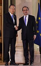 Paris: President Hollande Receives UN Secretary-General Ban Ki-moon, 17 Nov. 2016