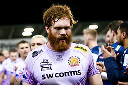 Jannes Kirsten of Exeter Chiefs - Mandatory by-line: Robbie Stephenson/JMP - 08/12/2019 - RUGBY - AJ Bell Stadium - Manchester, England - Sale Sharks v Exeter Chiefs - Heineken Champions Cup