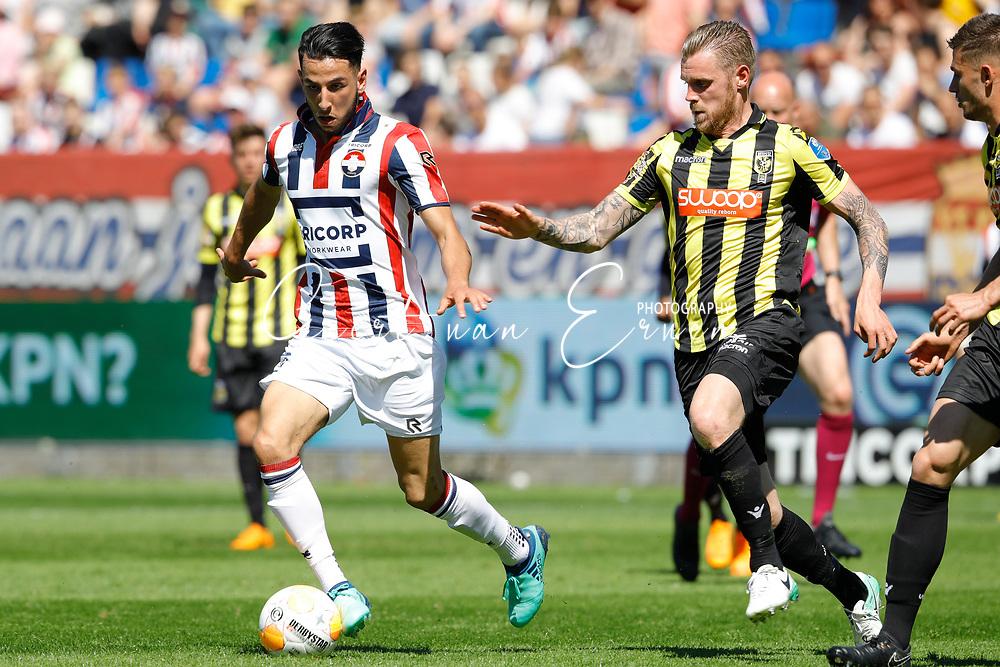 *Ismail Azzaoui* of Willem II, *Maikel van der Werff* of Vitesse