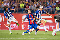 Deportivo Alaves's midfielder Manuel Alejandro Garcia  and midfielder Marcos Llorente and FC Barcelona's forward Leo Messi during Copa del Rey (King's Cup) Final between Deportivo Alaves and FC Barcelona at Vicente Calderon Stadium in Madrid, May 27, 2017. Spain.<br /> (ALTERPHOTOS/BorjaB.Hojas)