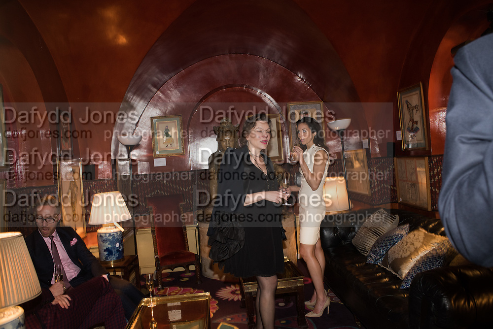 ELIZABETH MESHKVICHEVA, NATALIA BONDARENKO, Pedro Girao of Christies and Duncan Macintyre of Lombard Odier host the last dinner at the Old Annabels. 44 Berkeley Sq. London. 15 November 2018