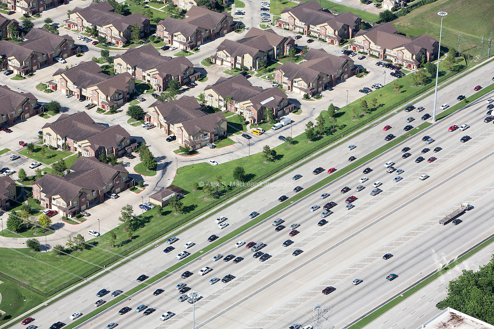 Development adjacent to Katy Freeway