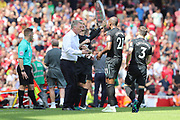 West Ham United manager David Moyes during the Premier League match between Arsenal and West Ham United at the Emirates Stadium, London, England on 22 April 2018. Picture by Bennett Dean.
