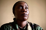 Dean Venus, Executive officer at the Coast Guard. She is the first female coast guard of Liberia, 29 July, 2010.