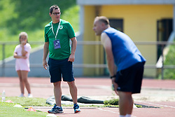 Zoran Pejovic, head coach of ZNK Olimpija Ljubljana during football match between FC Minsk and ZNK Olimpija Ljubljana in 2nd Qualifying Group of UEFA Women's Champions League 2018/19, on August 7, 2018 in Stadion ZAK, Ljubljana, Slovenia. Photo by Urban Urbanc / Sportida