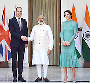 Kate Middleton & Prince William Visit With Indian PM Modi