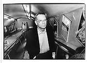 Jeffrey Archer. Tube, London 1999. © Copyright Photograph by Dafydd Jones 66 Stockwell Park Rd. London SW9 0DA Tel 020 7733 0108 www.dafjones.com