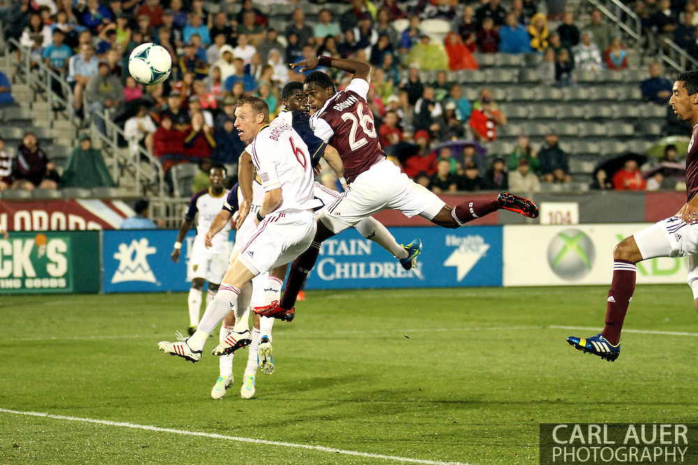 August 3rd, 2013 - Colorado Rapids forward Deshorn Brown (26) watches as his header go wide past Real Salt Lake defender Nat Borchers (6) in second half action of the Major League Soccer match between Real Salt Lake and the Colorado Rapids at Dick's Sporting Goods Park in Commerce City, CO