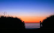 Beach enterance at sunrise, Nauset Beach, Cape Cod