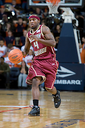 Boston College guard Tyrese Rice (4) in action against Virginia.  The Virginia Cavaliers men's basketball team faced the Boston College Golden Eagles at the John Paul Jones Arena in Charlottesville, VA on January 19, 2008.