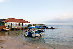 Boat and open air Pier restaurant, Franklyn D Resort, Runaway Bay, St. Ann, Jamaica