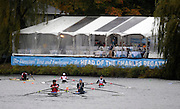 Cambridge, USA, Lightweight Men's Single, LM1X,   move down the course approacing the cambridge BC and Elliott Bridge, during the  2009 Head of the Charles  Sunday  18/10/2009  [Mandatory Credit Peter Spurrier Intersport Images],.