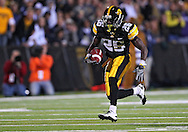 October 2 2010: Iowa Hawkeyes wide receiver Paul Chaney Jr. (26) runs after a catch during the first half of the NCAA football game between the Penn State Nittany Lions and the Iowa Hawkeyes at Kinnick Stadium in Iowa City, Iowa on Saturday October 2, 2010. Iowa defeated Penn State 24-3.