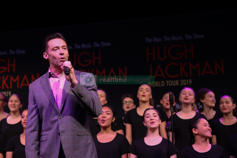 February 26, 2019 - HUGH JACKMAN announcing his 2019 World Tour at Museum of Contemporary Art, Sydney on February 26, 2019  (Credit Image: © Christopher Khoury/Australian Press Agency via ZUMA  Wire)